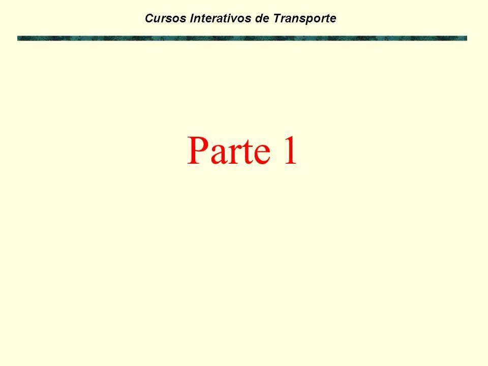 Cursos Interativos de Transporte Exercícios da Parte 4: - Antes de passar para a Parte 5 deste curso, faça os exercícios referentes a Parte 4 para verificar seus conhecimentos.