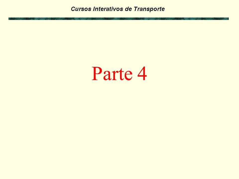 Cursos Interativos de Transporte Exercícios da Parte 3: - Antes de passar para a Parte 4 deste curso, faça os exercícios referentes a Parte 3 para ver