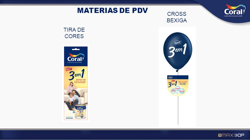 CROSS BEXIGA TIRA DE CORES MATERIAS DE PDV