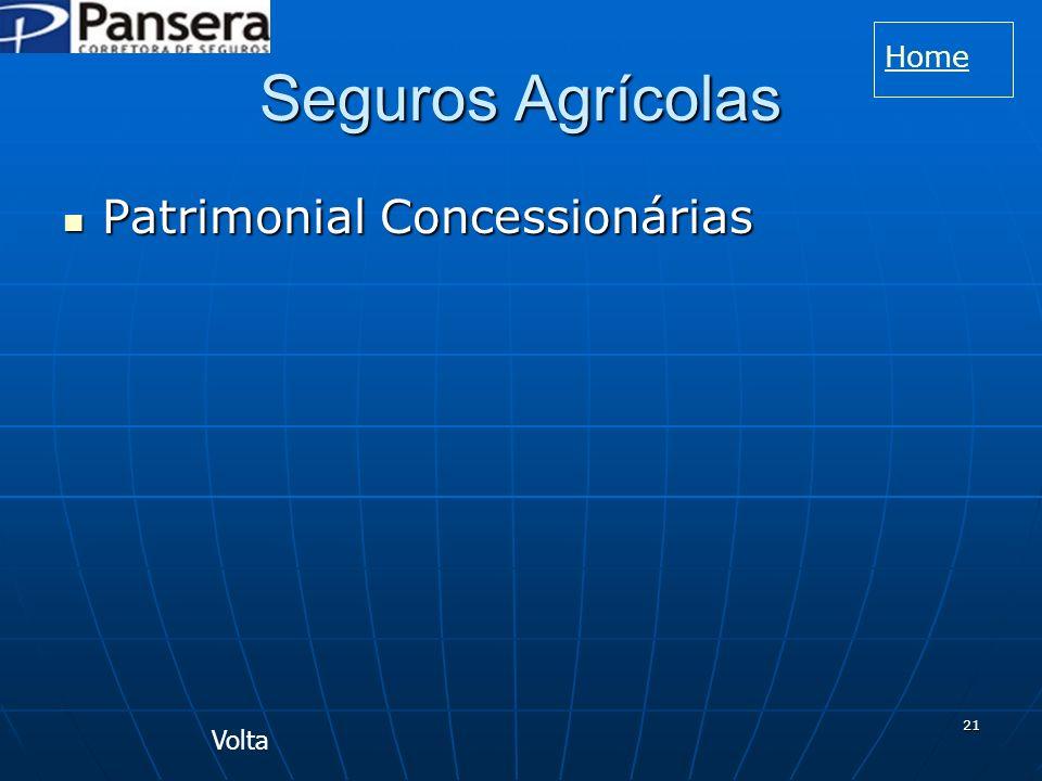 21 Seguros Agrícolas Patrimonial Concessionárias Patrimonial Concessionárias Volta Home