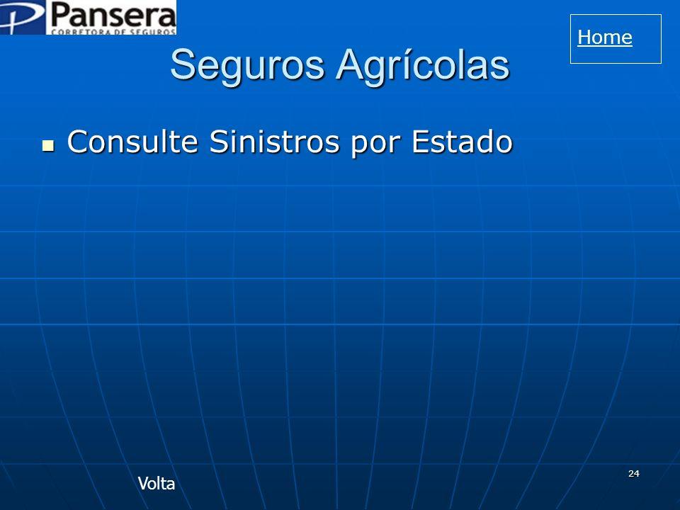 24 Seguros Agrícolas Consulte Sinistros por Estado Consulte Sinistros por Estado Volta Home
