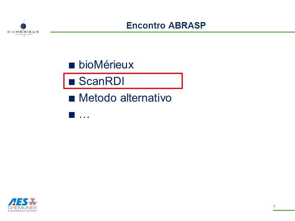Encontro ABRASP bioMérieux ScanRDI Metodo alternativo … 8