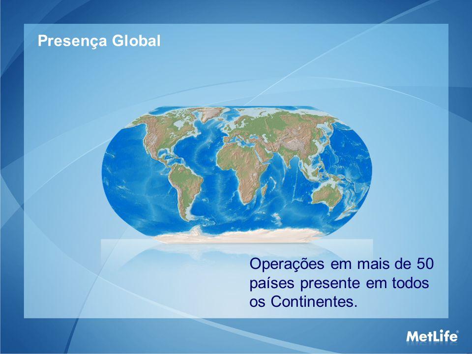 Resultado Global em 2010 Resultados da MetLife em 2010 Ativos Totais: US$ 730,7 bilhões 1 1 Fonte: www.metlife.com – 14/04/2010www.metlife.com 2 Informações – Balanço MetLife Faturamento anual em 2010: US$ 35,8 bilhões 2
