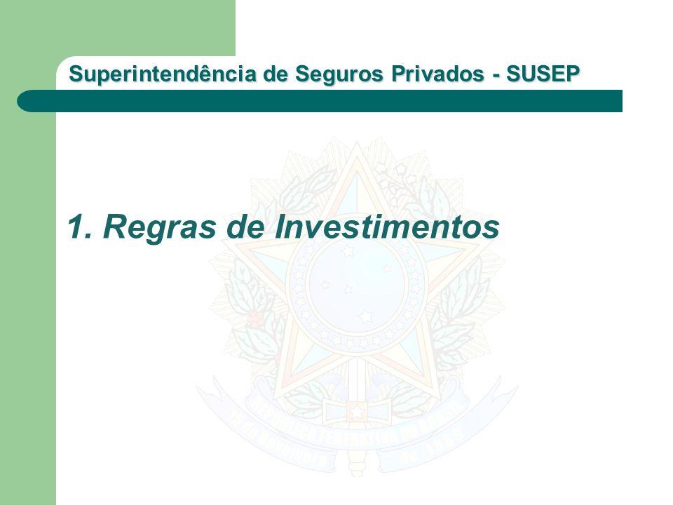 Superintendência de Seguros Privados - SUSEP 1. Regras de Investimentos