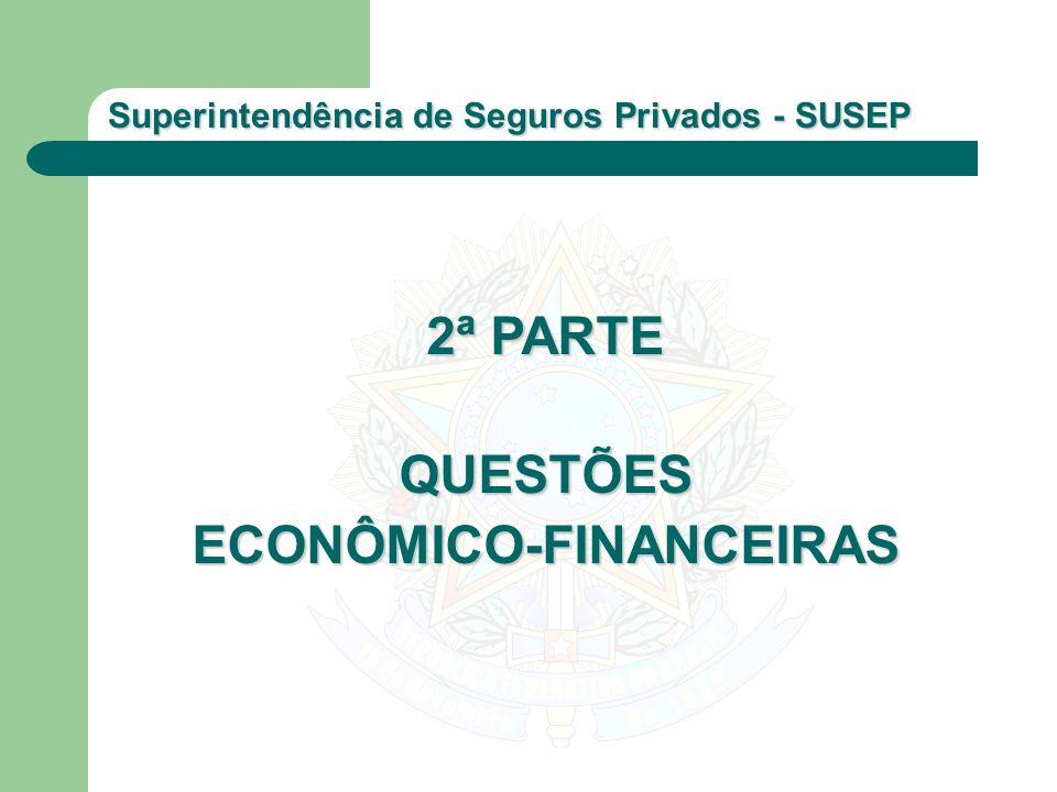 Superintendência de Seguros Privados - SUSEP 2ª PARTE QUESTÕESECONÔMICO-FINANCEIRAS