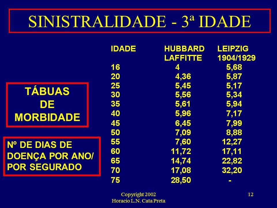 Copyright 2002 Horacio L.N. Cata Preta 11 3 ª IDADE EXPECTATIVA MÉDIA DE VIDA - BRASIL FONTE: IBGE
