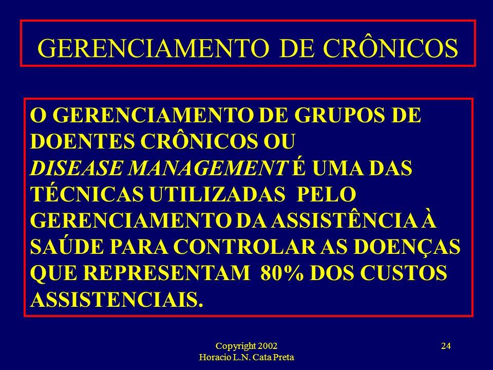 Copyright 2002 Horacio L.N. Cata Preta 23 PROGRAMAS DE PREVENÇÃO E CONTROLE DAS DOENÇAS HIPERTENSOS DIABÉTICOS CARDIOPATAS NEFROPATAS ALÉRGICOS E ASMÁ
