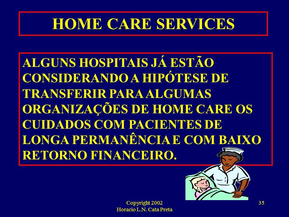 Copyright 2002 Horacio L.N. Cata Preta 34 HOME CARE SERVICES APESAR DAS DIFICULDADES DE IMPLEMENTAÇÃO, OS SERVIÇOS DE HOME CARE ESTÃO APRESENTANDO RES