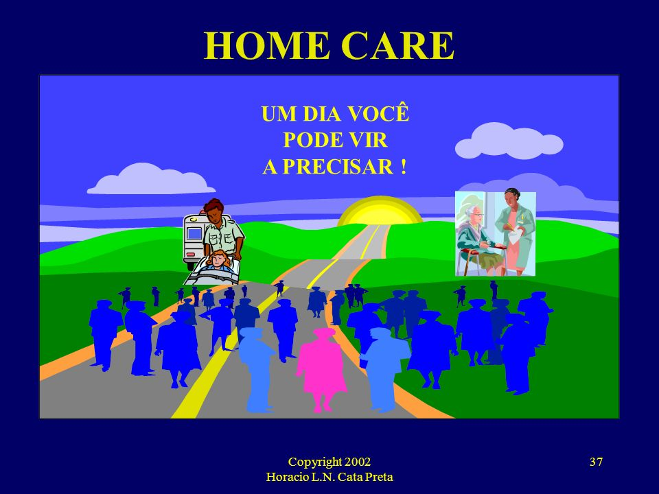 Copyright 2002 Horacio L.N. Cata Preta 36 HOME CARE SERVICES CONDIÇÕES BÁSICAS PARA O DESENVOLVIMENTO DAS ATIVIDADES: IDONEIDADE DA EMPRESA UTILIZAÇÃO