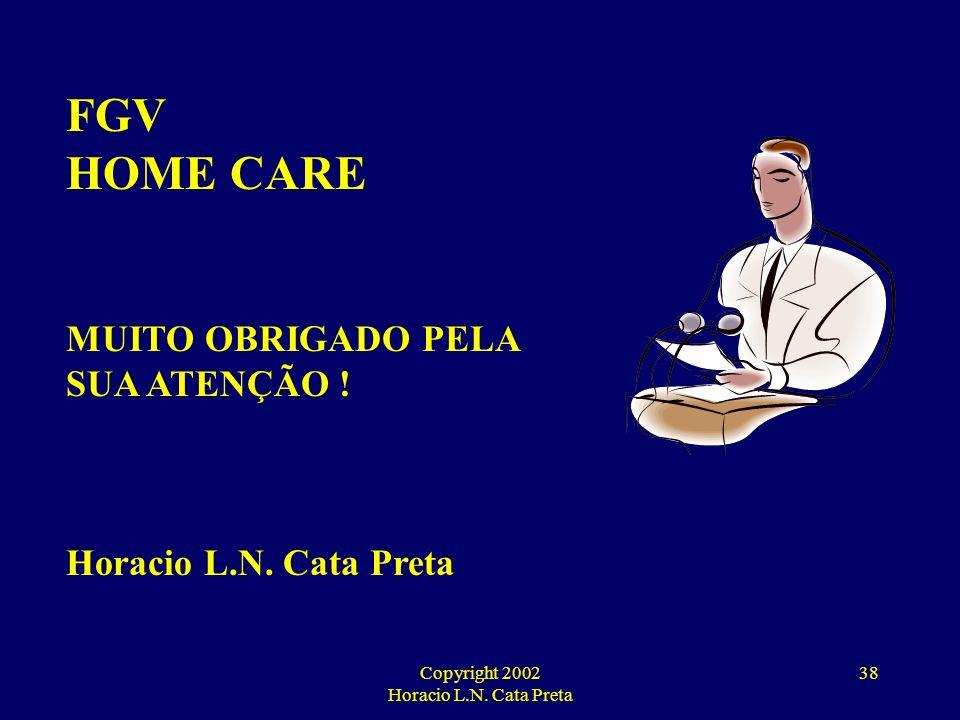 Copyright 2002 Horacio L.N. Cata Preta 37 HOME CARE UM DIA VOCÊ PODE VIR A PRECISAR !
