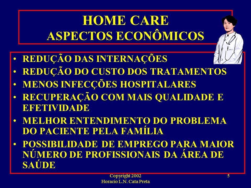 Copyright 2002 Horacio L.N. Cata Preta 4 HOME HEALTH CARE O QUE ISTO REPRESENTA EM TERMOS ECONÔMICOS ?