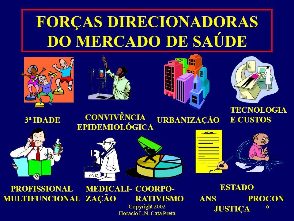 Copyright 2002 Horacio L.N. Cata Preta 5 HOME CARE ASPECTOS ECONÔMICOS REDUÇÃO DAS INTERNAÇÕES REDUÇÃO DO CUSTO DOS TRATAMENTOS MENOS INFECÇÕES HOSPIT