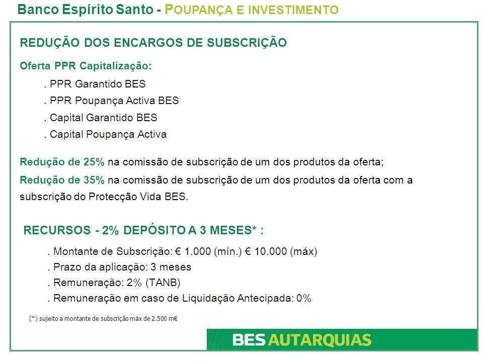 REDUÇÃO DOS ENCARGOS DE SUBSCRIÇÃO Oferta PPR Capitalização:.