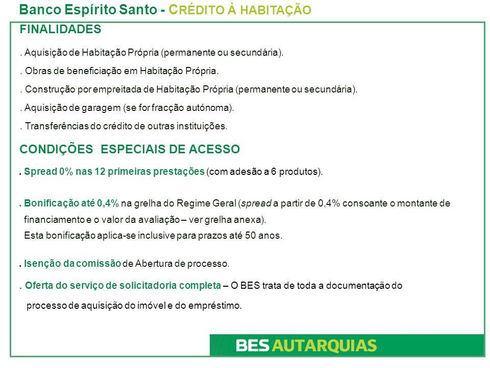 TRANSFERÊNCIAS DO CRÉDITO DE OUTRAS INSTITUIÇÕES Banco Espírito Santo - C RÉDITO À HABITAÇÃO.