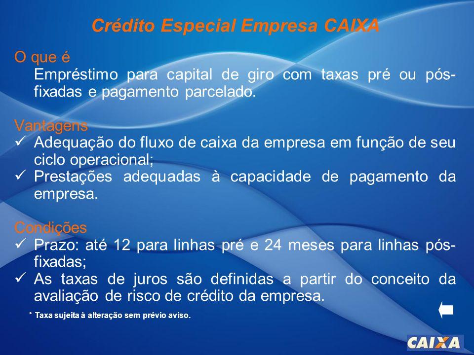 Cartão CAIXA Empresarial O que é Cartão emitido pela CAIXA associado à bandeira Visa ou Mastercard.