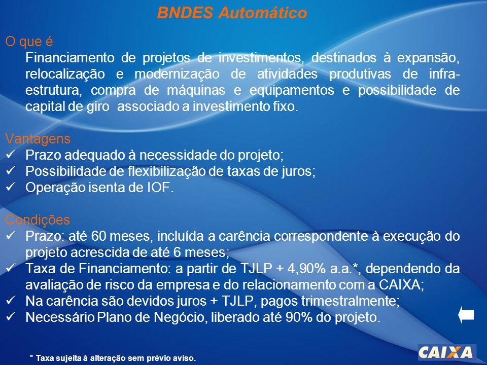 Cartão BNDES CAIXA O que é Com ele, sua empresa adquire bens de produção de fabricação nacional e insumos com mais facilidade, diretamente no Portal de Operações do BNDES.