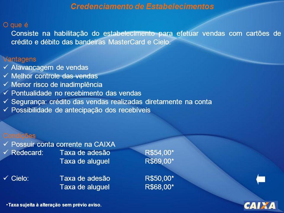 Convênio Cartão Turismo O que é Convênio com empresas do setor de turismo para oferecimento de benefícios diferenciados aos clientes CAIXA, portadores do Cartão Turismo.