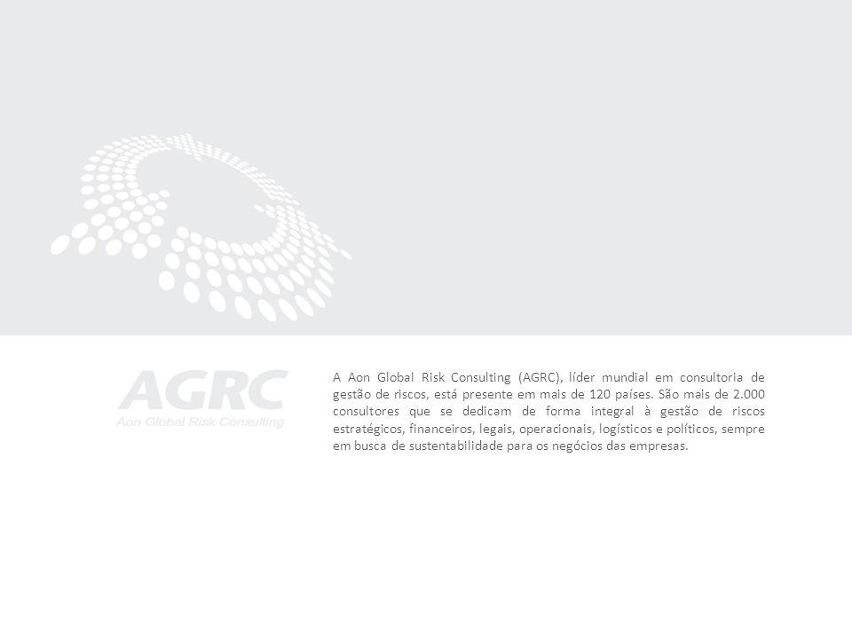 A Aon Global Risk Consulting (AGRC), líder mundial em consultoria de gestão de riscos, está presente em mais de 120 países. São mais de 2.000 consulto