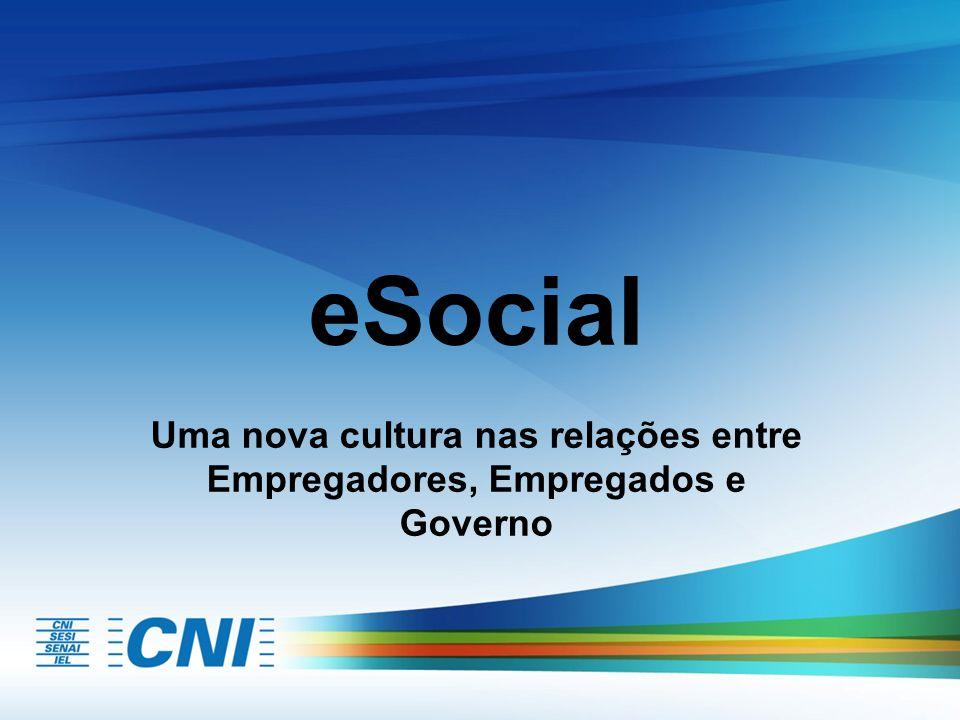 eSocial Uma nova cultura nas relações entre Empregadores, Empregados e Governo