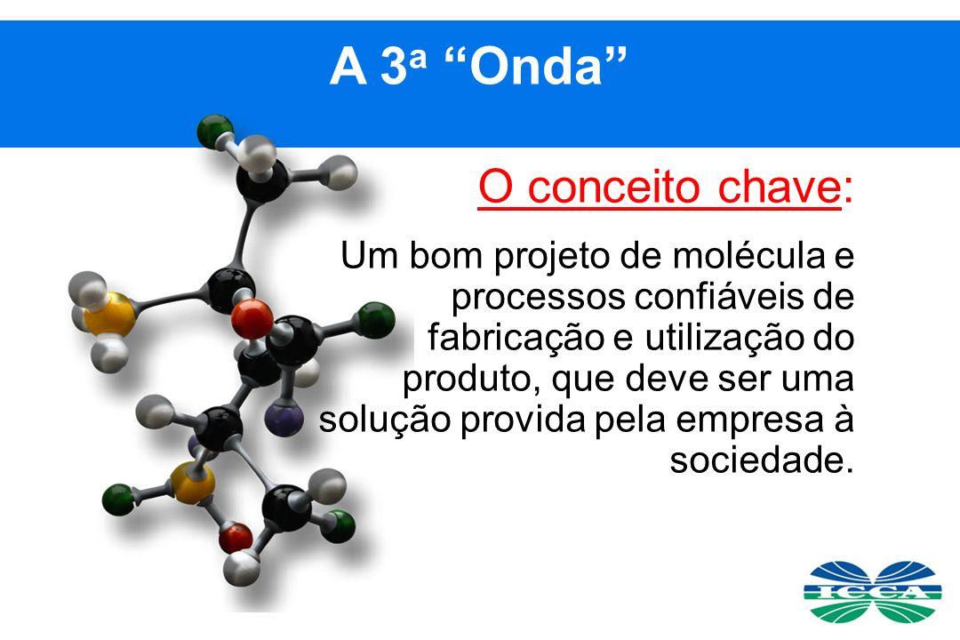 O conceito chave: Um bom projeto de molécula e processos confiáveis de fabricação e utilização do produto, que deve ser uma solução provida pela empresa à sociedade.