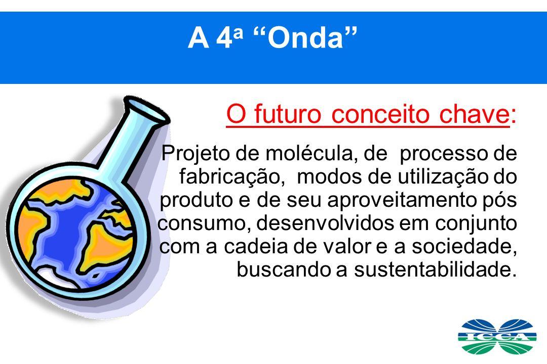 O futuro conceito chave: Projeto de molécula, de processo de fabricação, modos de utilização do produto e de seu aproveitamento pós consumo, desenvolvidos em conjunto com a cadeia de valor e a sociedade, buscando a sustentabilidade.