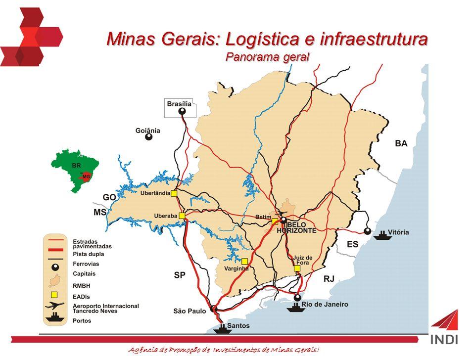 Minas Gerais: Logística e infraestrutura Panorama geral