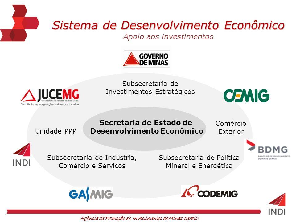 Agência de Promoção de Investimentos de Minas Gerais! Unidade PPP Subsecretaria de Indústria, Comércio e Serviços Subsecretaria de Política Mineral e