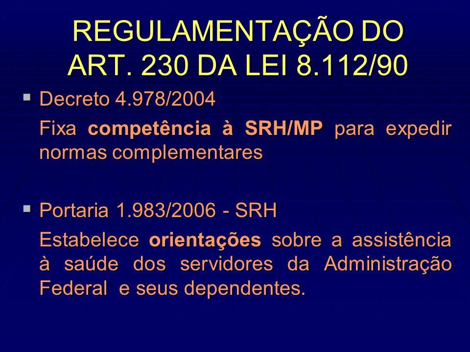 REGULAMENTAÇÃO DO ART.