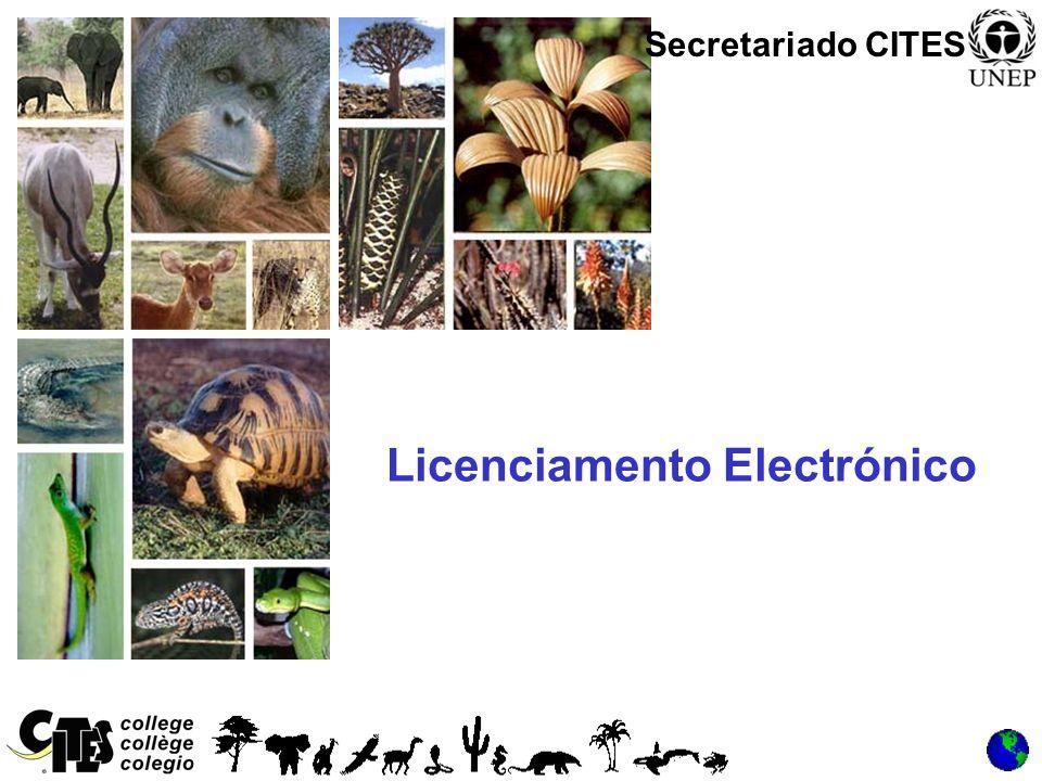 1 Licenciamento Electrónico Secretariado CITES