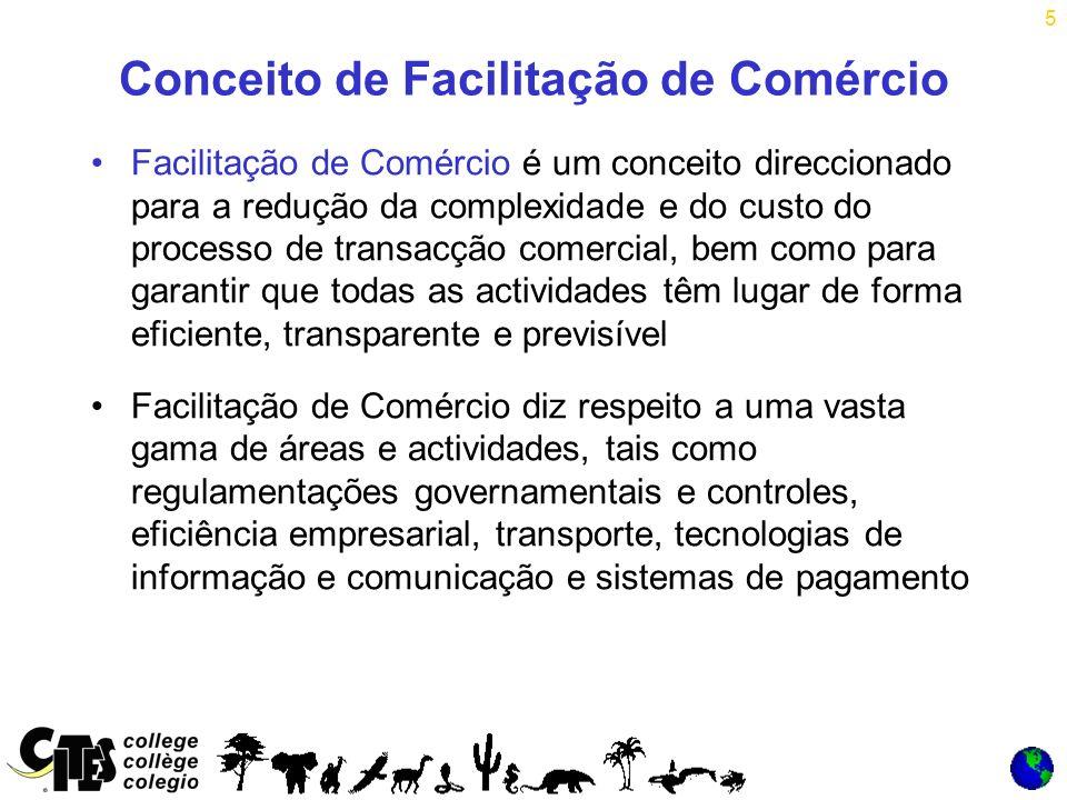 16 Progresso na Facilitação do Comércio Outras recomendações incluem o Código de Localização da ONU para mais de 40.000 localidades de comércio em todo o mundo, e o Código do País que foi adoptado como norma ISO.