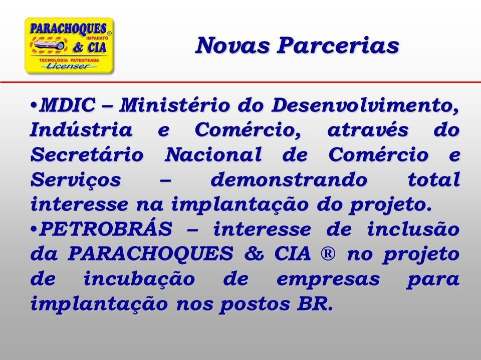 Novas Parcerias MDIC – Ministério do Desenvolvimento, Indústria e Comércio, através do Secretário Nacional de Comércio e Serviços – demonstrando total