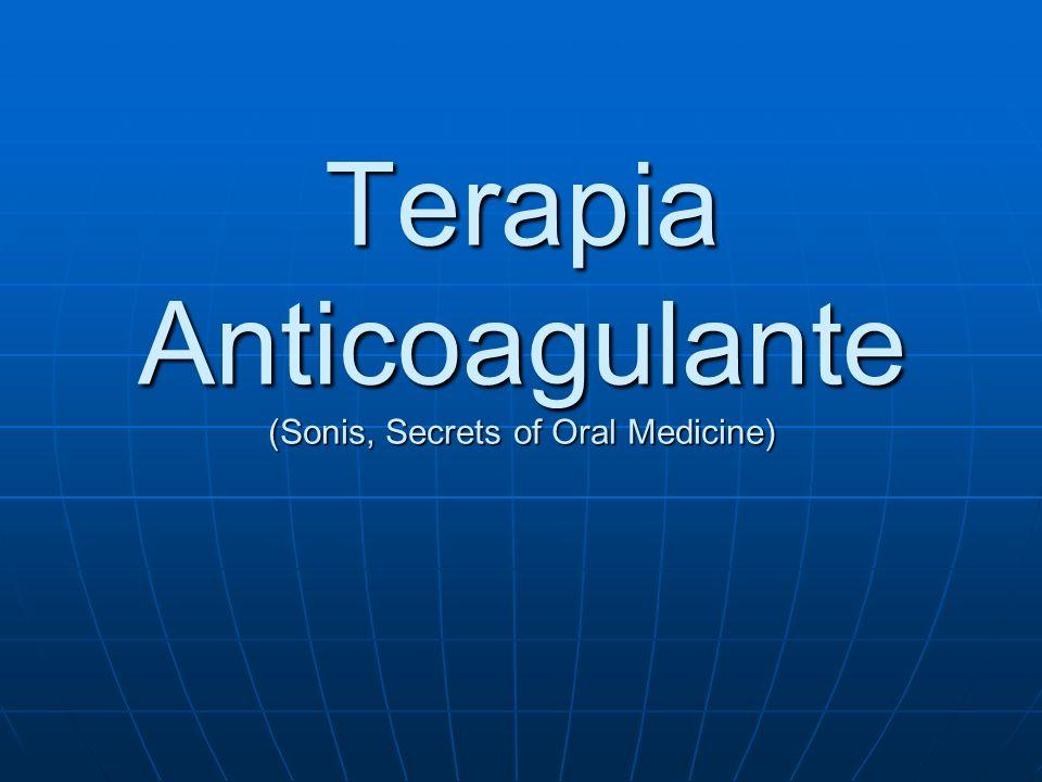 Periodontia Raspagem tecido moderadamente inflamado: Raspagem tecido moderadamente inflamado: Aceitável INR terapêutico = 2-3 Tecido inflamado – INR < 2,2 Tecido inflamado – INR < 2,2