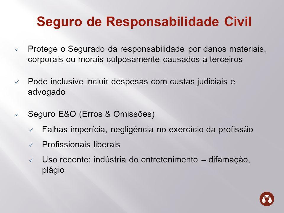 Seguro de Responsabilidade Civil Protege o Segurado da responsabilidade por danos materiais, corporais ou morais culposamente causados a terceiros Pod