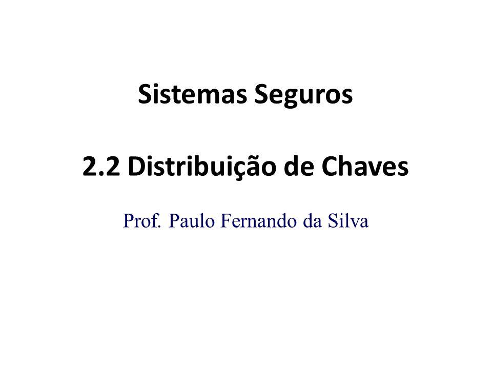 Sistemas Seguros 2.2 Distribuição de Chaves Prof. Paulo Fernando da Silva