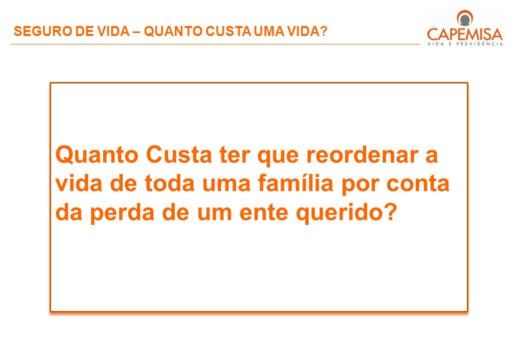SEGURO DE VIDA – QUANTO CUSTA UMA VIDA.