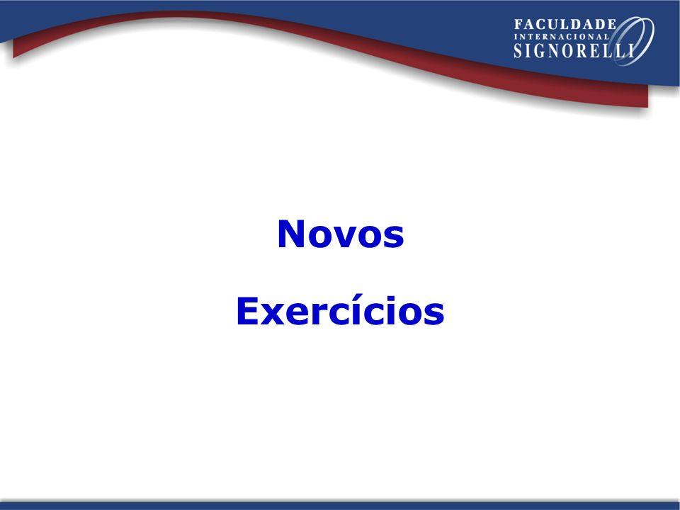 Novos Exercícios