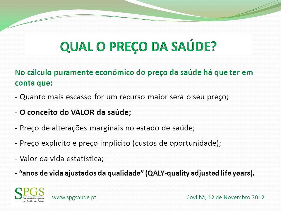 www.spgsaude.pt Covilhã, 12 de Novembro 2012 Valor da vida.