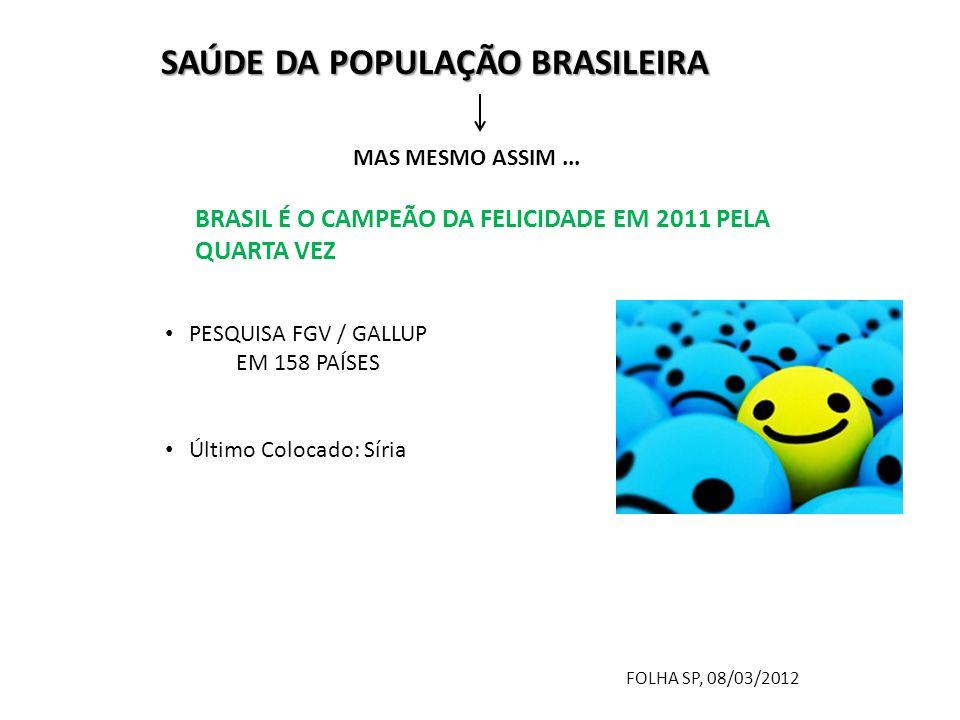 SAÚDE DA POPULAÇÃO BRASILEIRA MAS MESMO ASSIM...