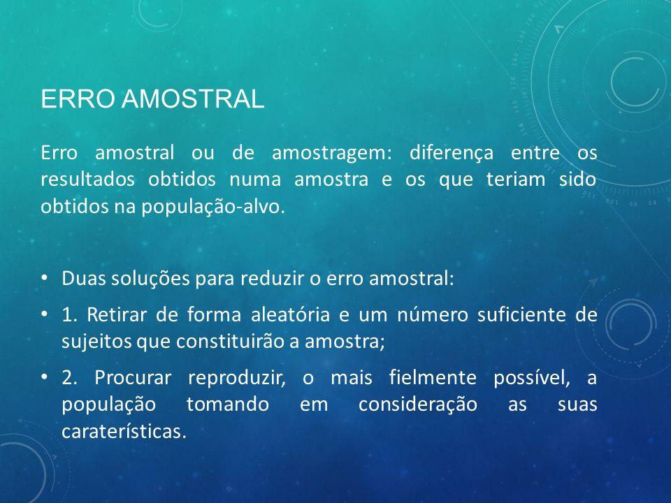 ERRO AMOSTRAL