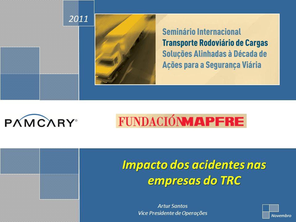 2011 Novembro Artur Santos Vice Presidente de Operações Impacto dos acidentes nas empresas do TRC