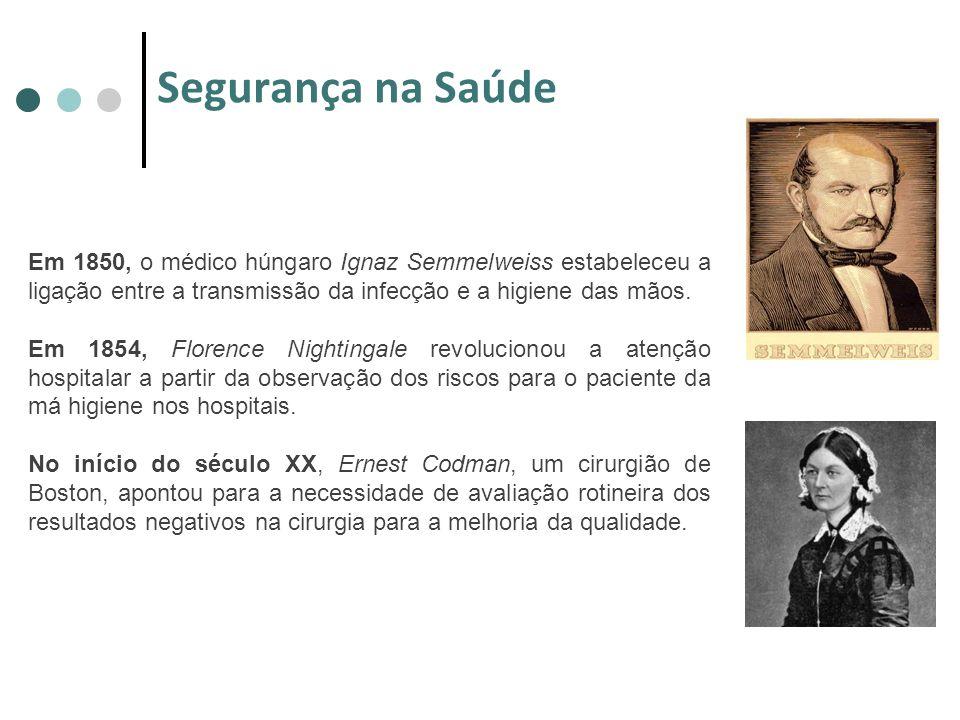 Em 1850, o médico húngaro Ignaz Semmelweiss estabeleceu a ligação entre a transmissão da infecção e a higiene das mãos. Em 1854, Florence Nightingale