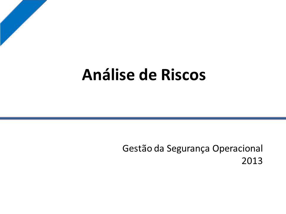Análise de Riscos Gestão da Segurança Operacional 2013