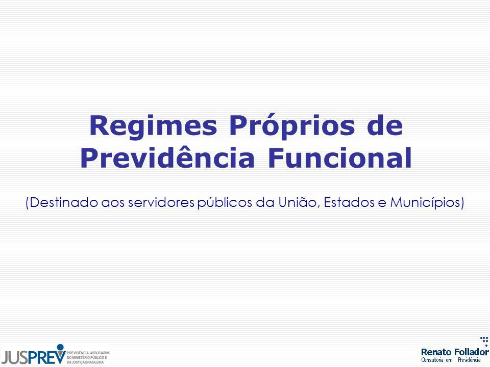 (Destinado aos servidores públicos da União, Estados e Municípios) Regimes Próprios de Previdência Funcional