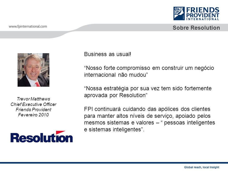Sobre Resolution Business as usual.