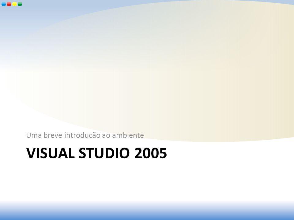 VISUAL STUDIO 2005 Uma breve introdução ao ambiente