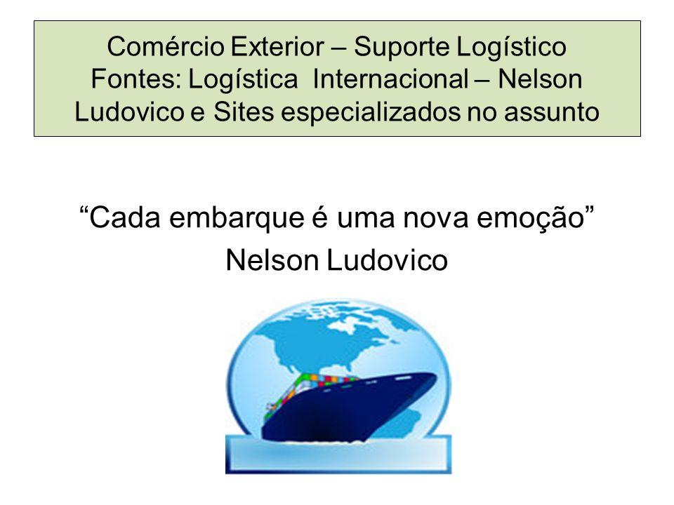 Comércio Exterior – Suporte Logístico Fontes: Logística Internacional – Nelson Ludovico e Sites especializados no assunto Cada embarque é uma nova emoção Nelson Ludovico