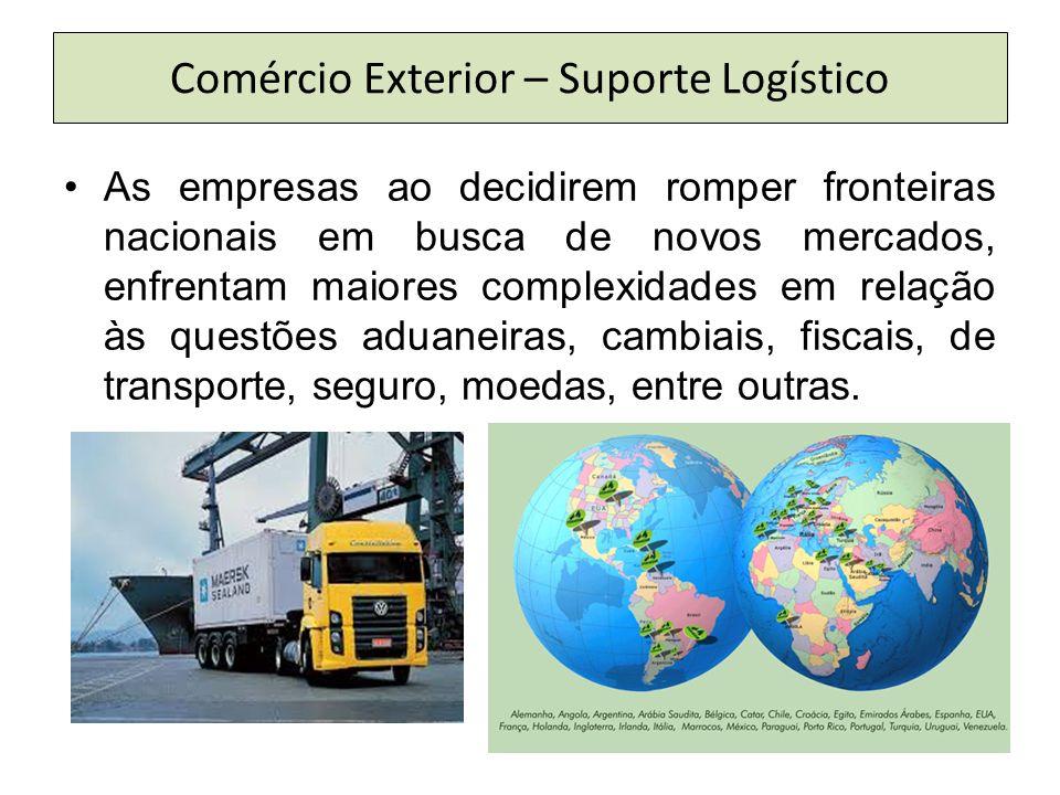 As empresas ao decidirem romper fronteiras nacionais em busca de novos mercados, enfrentam maiores complexidades em relação às questões aduaneiras, cambiais, fiscais, de transporte, seguro, moedas, entre outras.