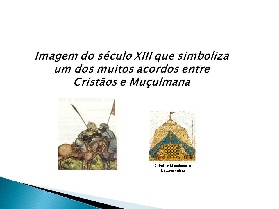 Imagem do século XIII que simboliza um dos muitos acordos entre Cristãos e Muçulmana