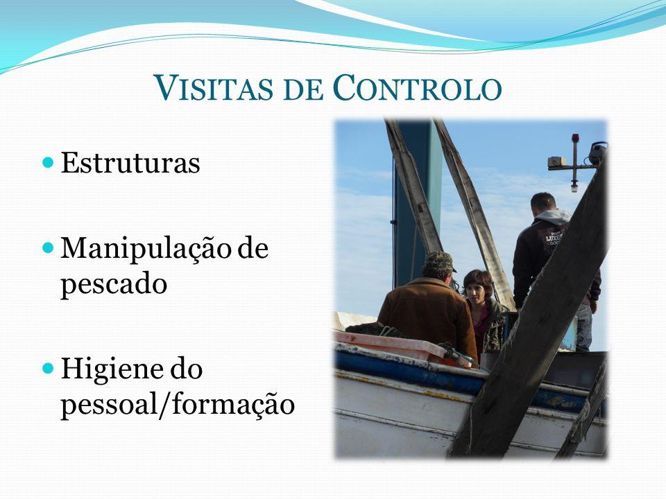V ISITAS DE C ONTROLO Estruturas Manipulação de pescado Higiene do pessoal/formação
