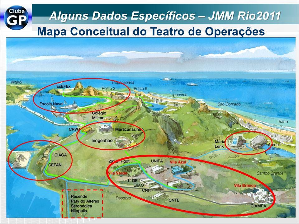Alguns Dados Específicos – JMM Rio2011 Mapa Conceitual do Teatro de Operações